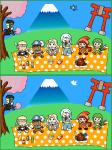 【間違い探し】~シグナス騎士団の花見~