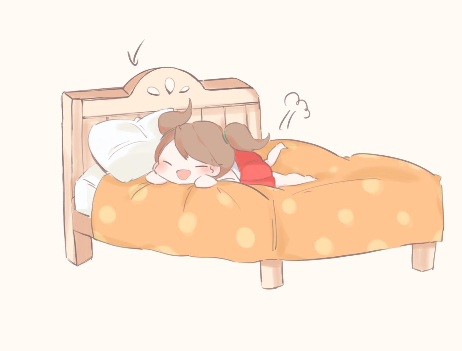 ベッドにダイブ椅子